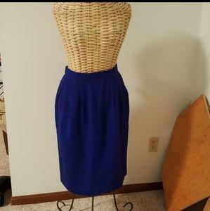 Vintage Evan Picone Wool Skirt with Pockets